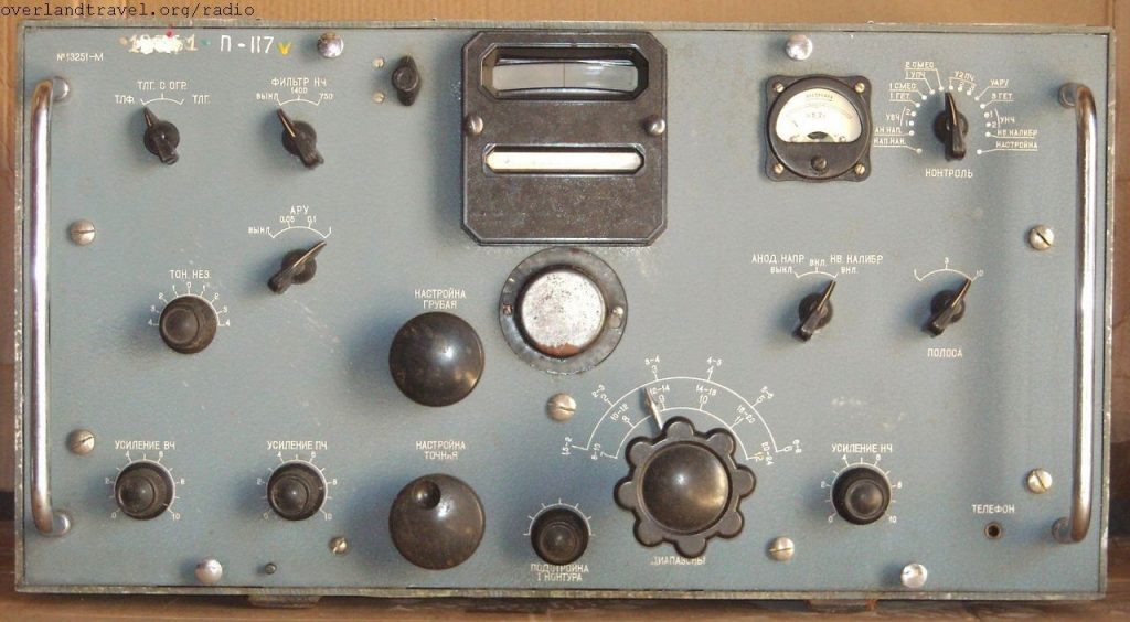 HF Radio receiver Krot-M based on the ideas of designs captured German radio Koeln E-52B, Telefunken T9K39 etc.