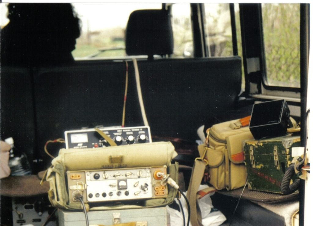 RA3DAK/M Transceiver Alinco-DХ70, antenna ASh-4 shortwave radio station R-104M.
